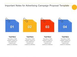 Important Notes For Advertising Campaign Proposal Template Ppt Powerpoint Background