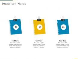 Important Notes Funding Slides Ppt Information