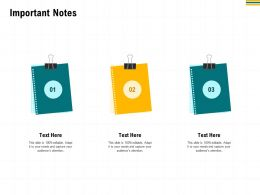 Important Notes M2954 Ppt Powerpoint Presentation Styles