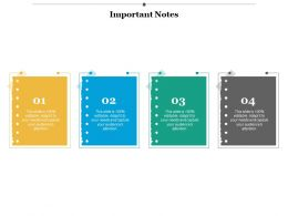 Important Notes Marketing Ppt Infographics Example Introduction