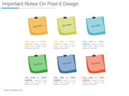 Important Notes On Post It Design Ppt Slide