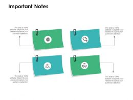 Important Notes Planning L406 Ppt Powerpoint Presentation Example