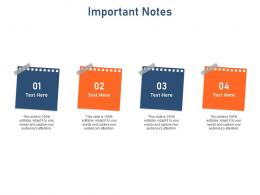 Important Notes Standardizing Vendor Performance Management Process Ppt Inspiration