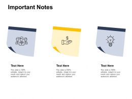 Important Notes Technology Marketing C108 Ppt Powerpoint Presentation Infographics Ideas