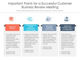 Important Points For A Successful Customer Business Review Meeting