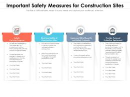 Important Safety Measures For Construction Sites