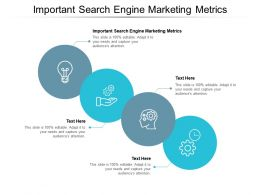 Important Search Engine Marketing Metrics Ppt Powerpoint Presentation Show Samples Cpb