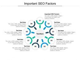 Important Seo Factors Ppt Powerpoint Presentation Inspiration Vector Cpb