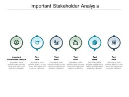 Important Stakeholder Analysis Ppt Powerpoint Presentation Gallery Example File Cpb