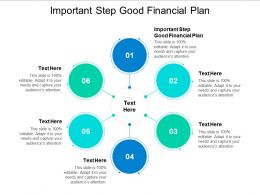 Important Step Good Financial Plan Ppt Powerpoint Presentation Slides Example Cpb