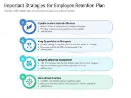 Important Strategies For Employee Retention Plan