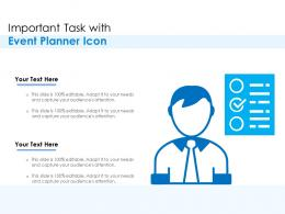 Important Task With Event Planner Icon