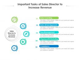 Important Tasks Of Sales Director To Increase Revenue