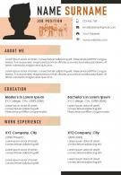 Impressive A4 Resume Template With Unique Creative Layout
