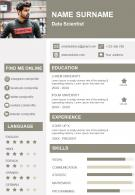 Impressive CV Format For Data Scientist