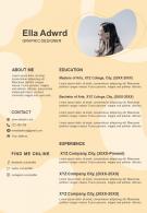 Impressive CV Format Sample For Job Interview