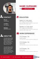 Impressive CV Template For Job Search