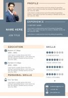 Impressive Resume Format For Job Search