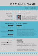 Impressive Visual Resume CV Design Template For Job Application
