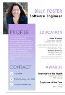 Impressive Visual Resume Design For Applying For Job