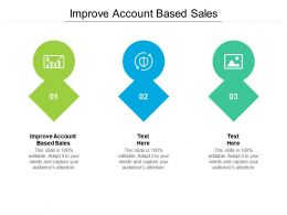 Improve Account Based Sales Ppt Powerpoint Presentation Layouts Objects Cpb