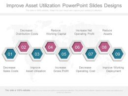 Improve Asset Utilization Powerpoint Slides Designs