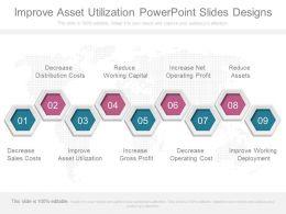 Improve Asset Utilization Powerpoint Slides Designs