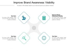 Improve Brand Awareness Visibility Ppt Powerpoint Presentation Model Ideas Cpb