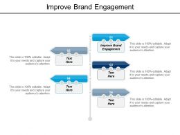 Improve Brand Engagement Ppt Powerpoint Presentation File Picture Cpb