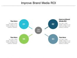 Improve Brand Media ROI Ppt Powerpoint Presentation Portfolio Example Cpb