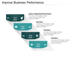 Improve Business Performance Ppt Powerpoint Presentation Gallery Templates Cpb