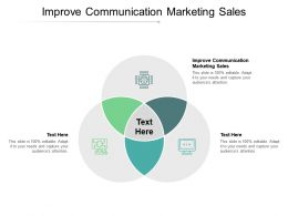 Improve Communication Marketing Sales Ppt Powerpoint Presentation Pictures Slideshow Cpb