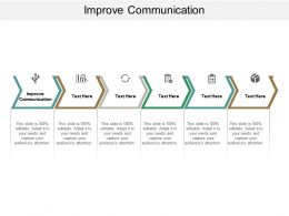 Improve Communication Ppt Powerpoint Presentation File Grid Cpb