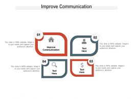Improve Communication Ppt Powerpoint Presentation Pictures Samples Cpb