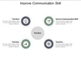 Improve Communication Skill Ppt Powerpoint Presentation Show Design Templates Cpb