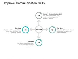 Improve Communication Skills Ppt Powerpoint Presentation File Graphic Tips Cpb