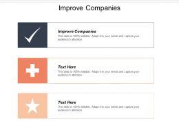 Improve Companies Ppt Powerpoint Presentation Ideas Summary Cpb