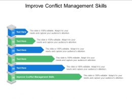 Improve Conflict Management Skills Ppt Powerpoint Presentation Layouts Layout Cpb