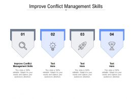 Improve Conflict Management Skills Ppt Presentation Styles Slideshow Cpb