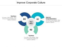 Improve Corporate Culture Ppt Powerpoint Presentation Summary Ideas Cpb