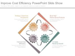 Improve Cost Efficiency Powerpoint Slide Show