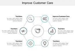 Improve Customer Care Ppt Powerpoint Presentation Portfolio Files Cpb
