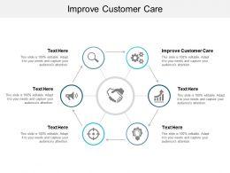 Improve Customer Care Ppt Powerpoint Presentation Portfolio Files Cpb