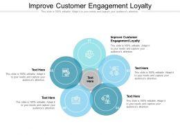 Improve Customer Engagement Loyalty Ppt Powerpoint Presentation Ideas Portfolio Cpb