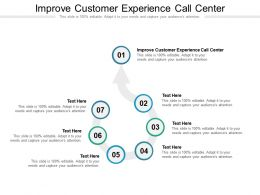 Improve Customer Experience Call Center Ppt Layouts Graphics Example Cpb
