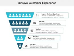 Improve Customer Experience Ppt Powerpoint Presentation Slides Template Cpb