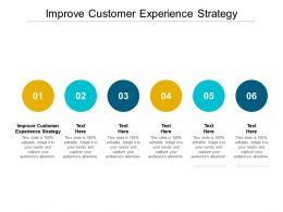 Improve Customer Experience Strategy Ppt Powerpoint Presentation Model Example Cpb
