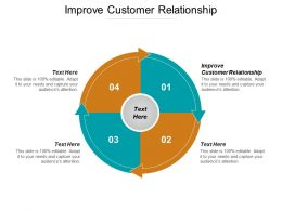 Improve Customer Relationship Ppt Powerpoint Presentation Icon Layout Cpb