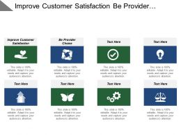 Improve Customer Satisfaction Be Provider Choice Improve Public Confidence