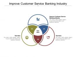 Improve Customer Service Banking Industry Ppt Powerpoint Presentation Infographics Cpb